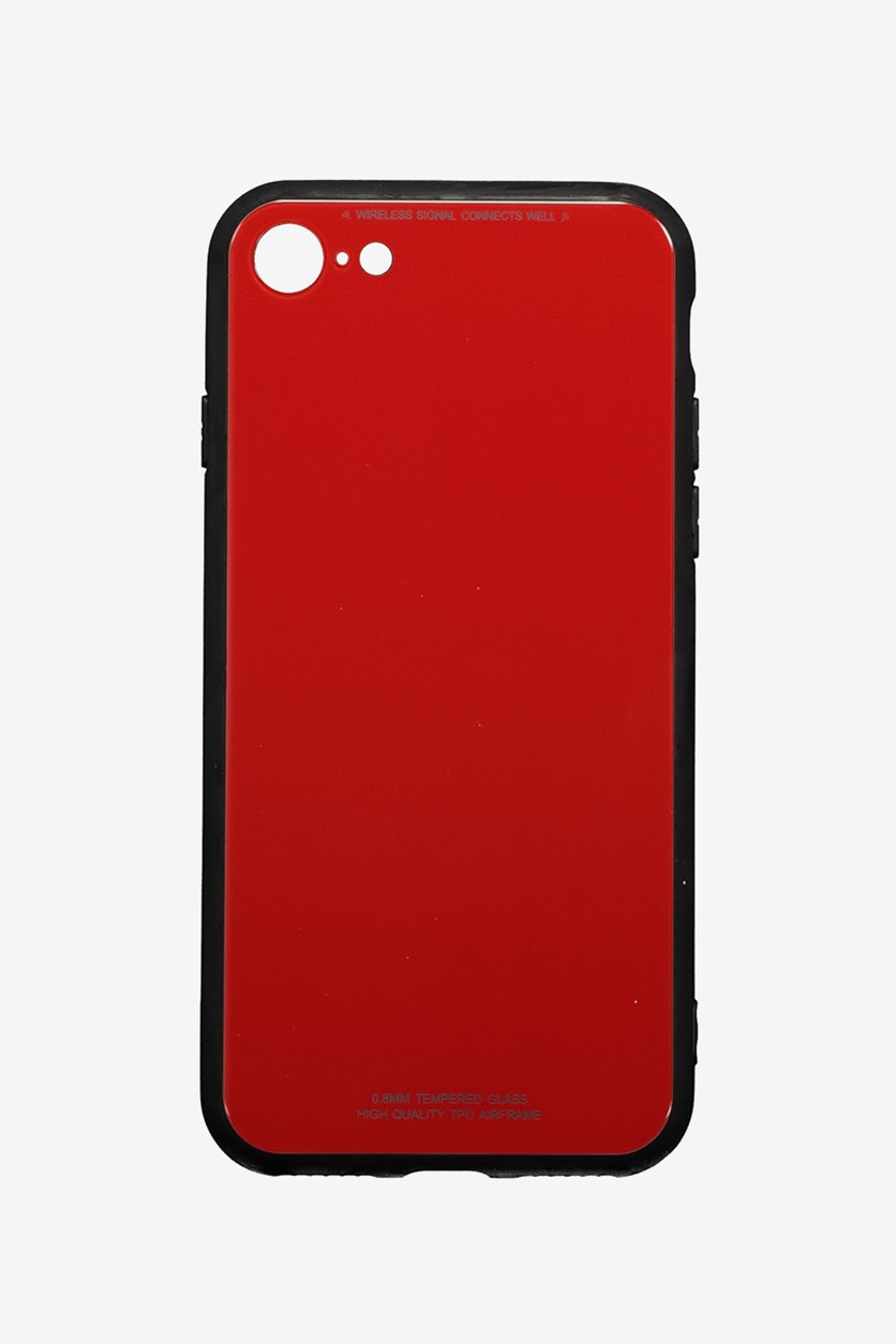 Iphone 7/8 Tempered Glass Phone Cover, Red