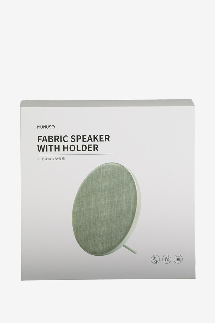 Fabric Speaker With Holder, Green