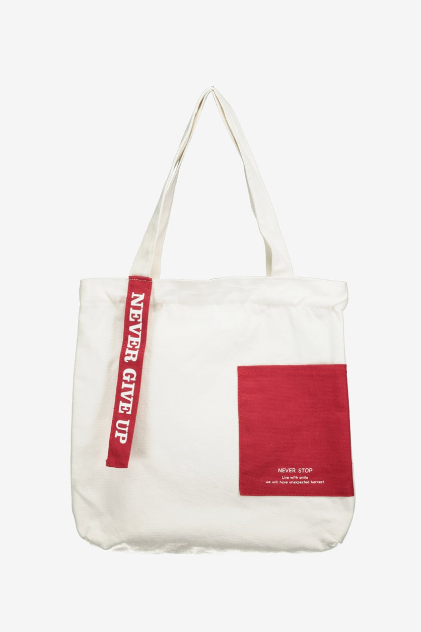 Canvas Shoulder Bag,  Offwhite