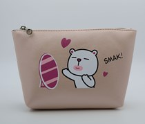 Cosmetic Bag Trapezoid Shape, Pink