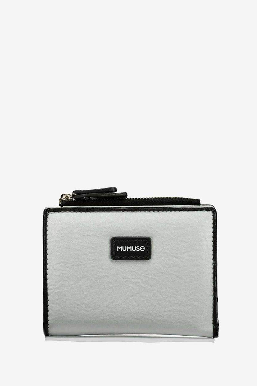 Artificial Leather Wallet, Silver