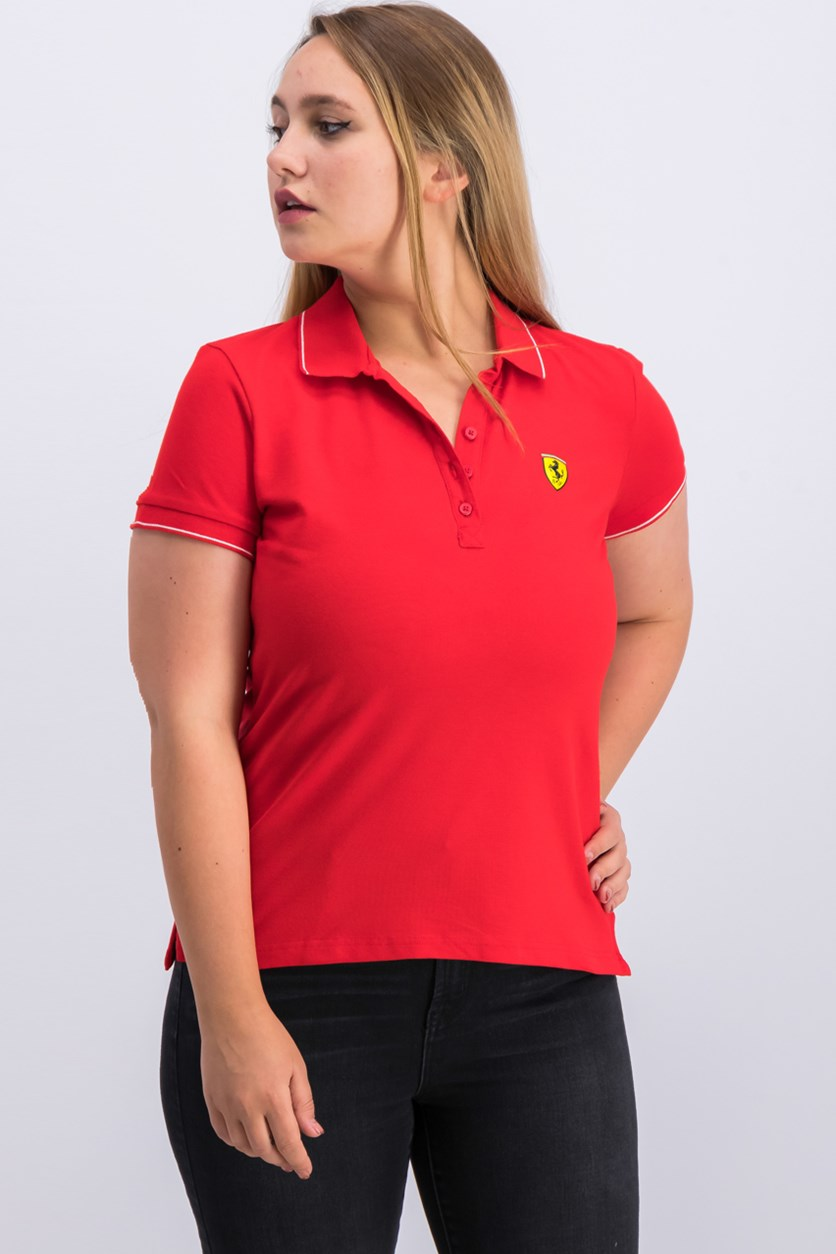 F1 Classic Ladies Polo Shirt, Red