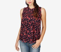 Lucky Brand Women's Rouched Yoke Tank Top, Navy
