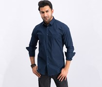 Men's Camicia Slim Fit Dress Shirt, Navy