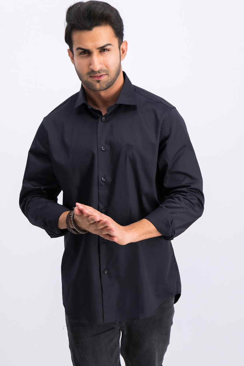 Camicia Comfort Fit Button Down Dress Shirt, Black