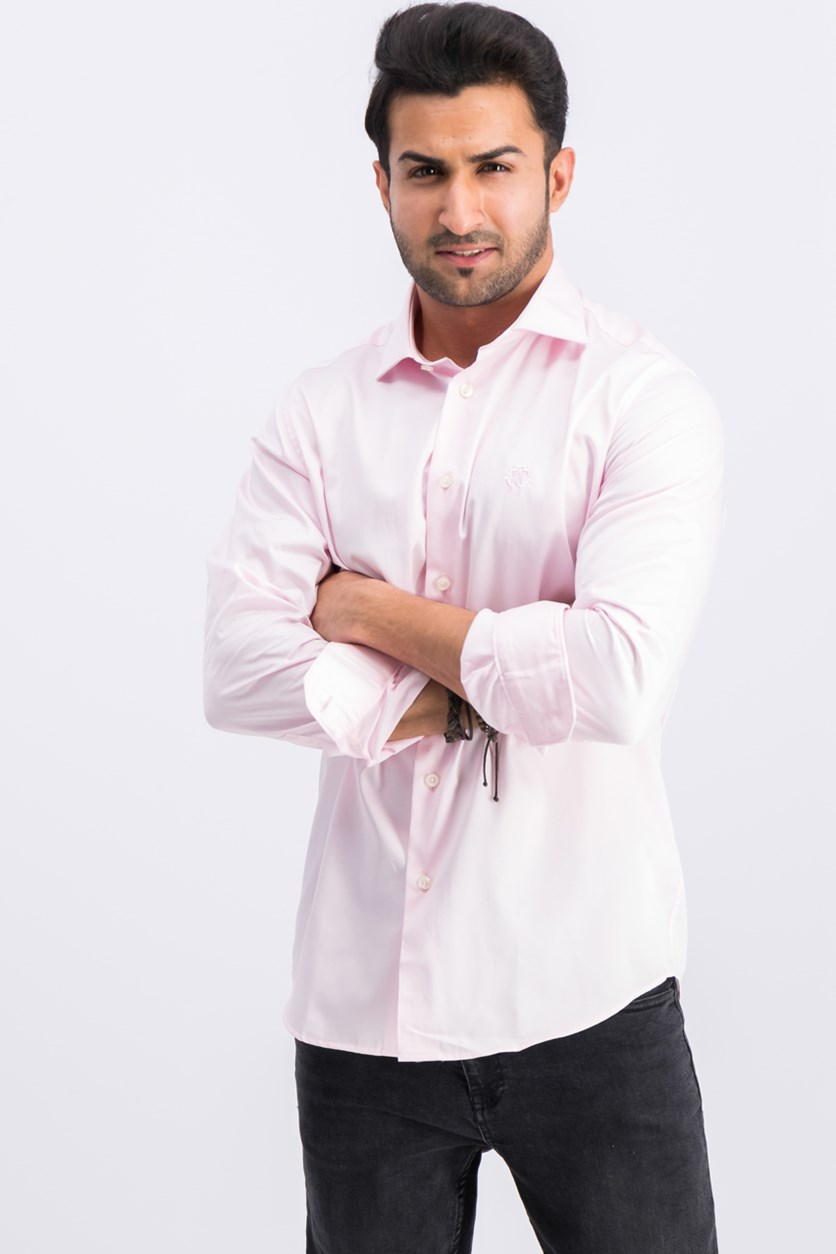 Camicia Comfort Fit Button Down Dress Shirt, Pink
