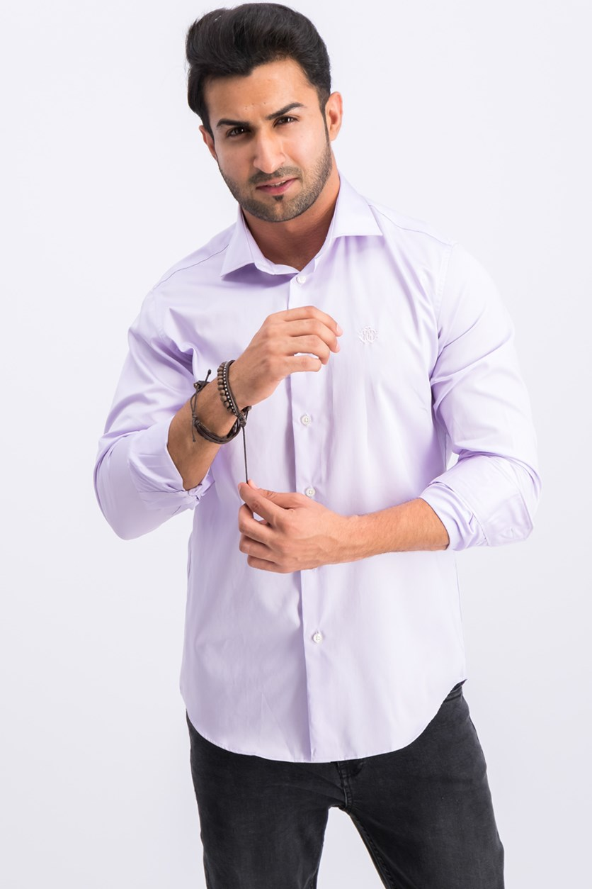Camicia Comfort Fit Button Down Dress Shirt, Lilac