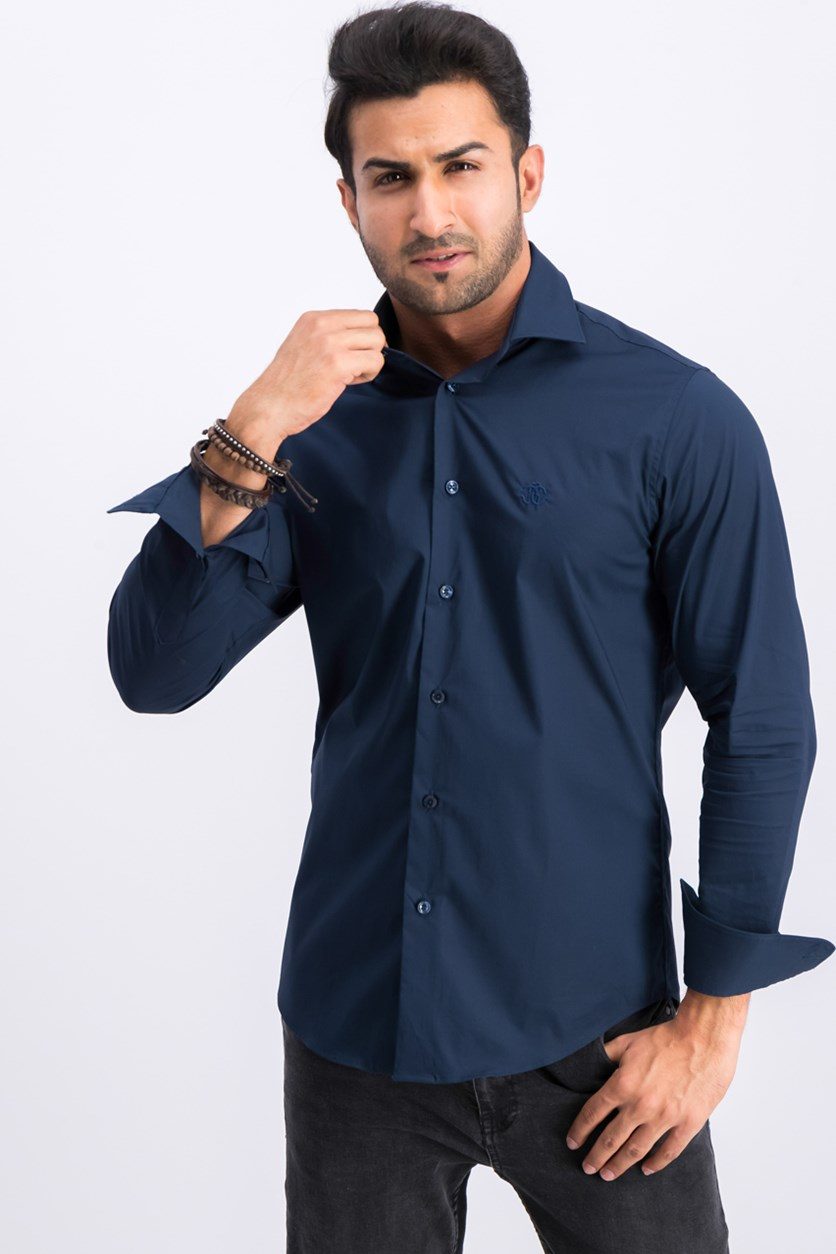 Men's Camicia Comfort Fit Button Down Dress Shirt, Navy