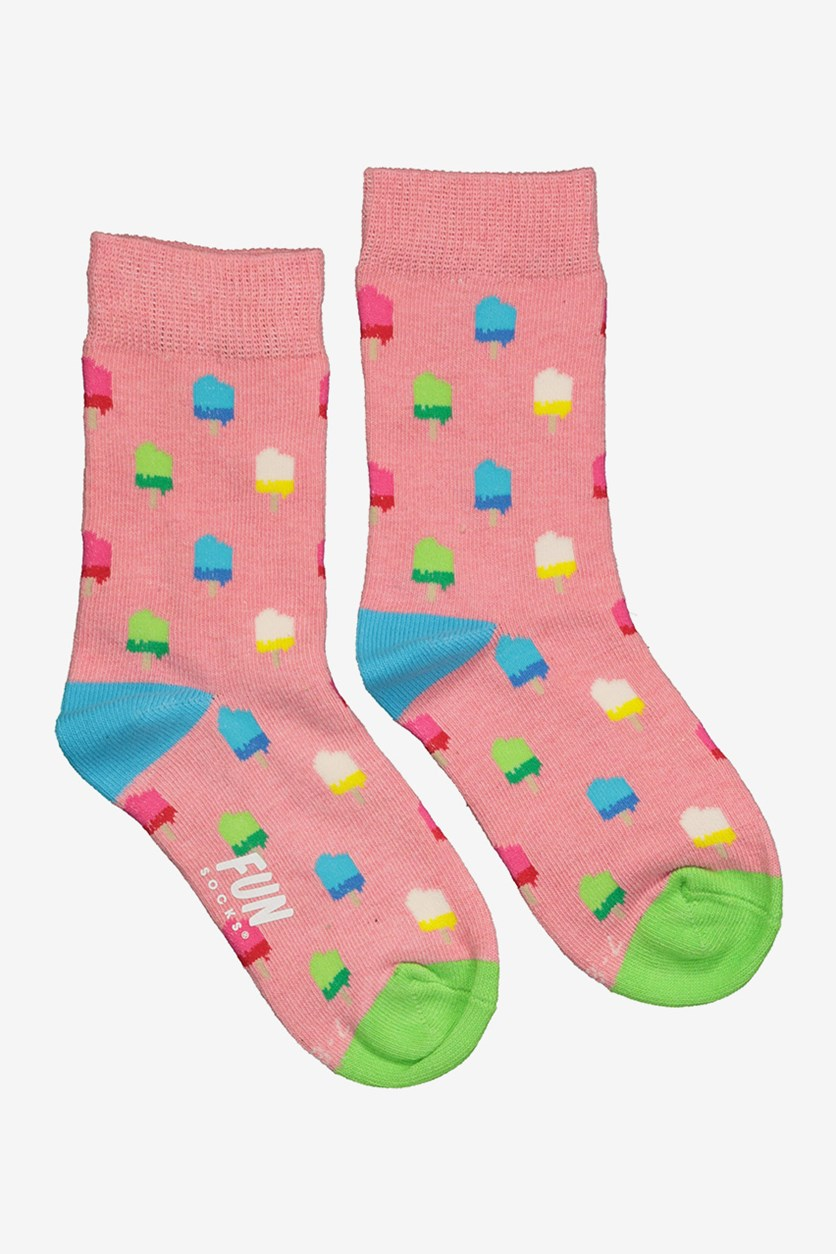 Mommy & Me Crew Socks, Pink