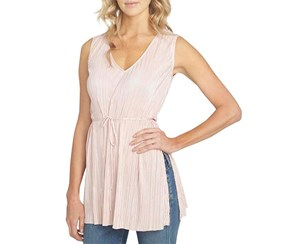 1.State Women's Sleeveless V-Neck Tunic Blouse, Pink