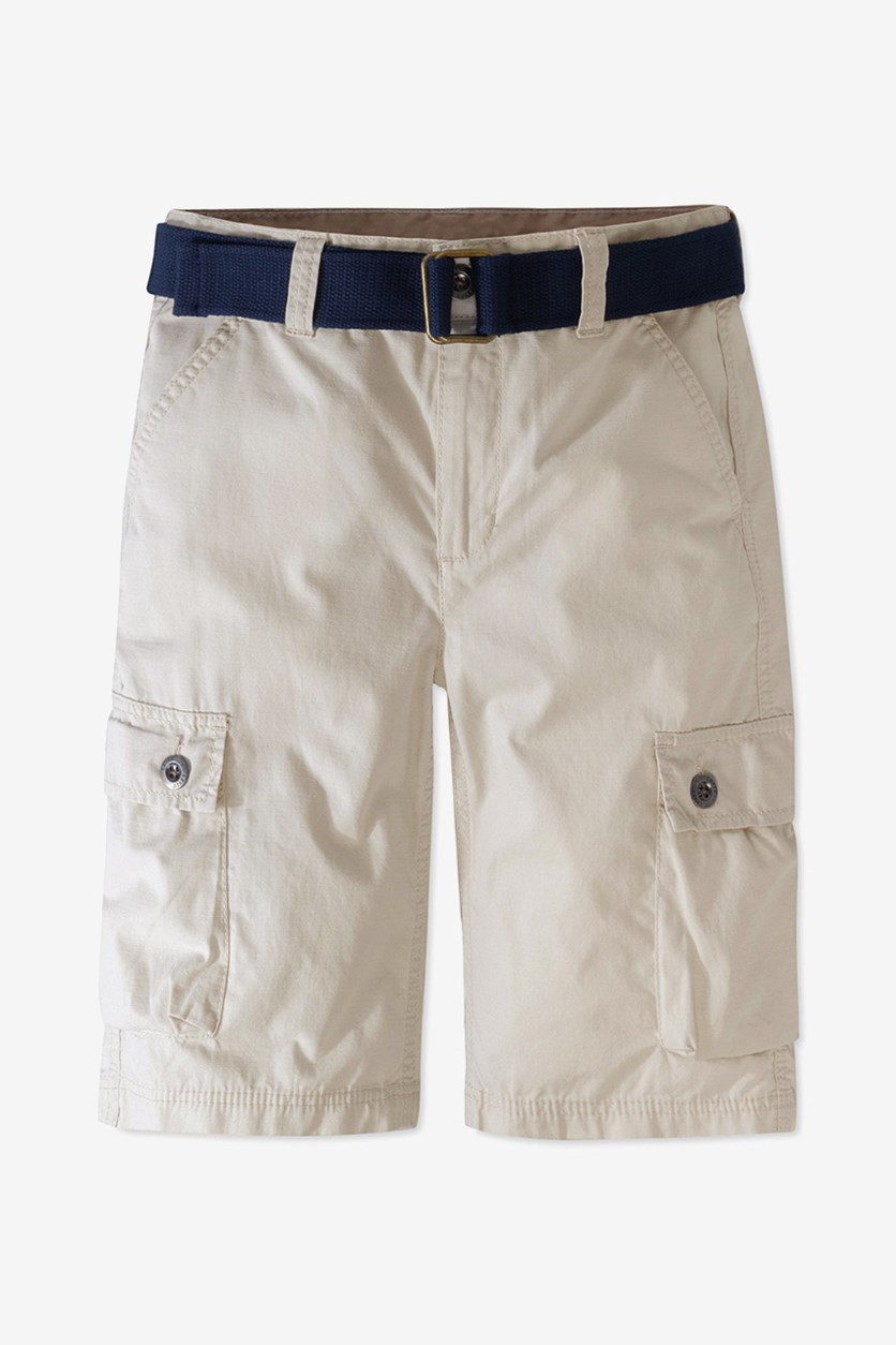 Kids Boy's Westwood Cotton Cargo Shorts, Beige