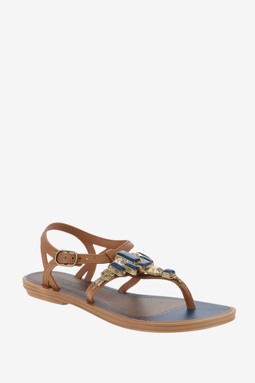 Realce Sandal, Blue/Brown