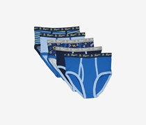 Penguin Kids 5 Pack Briefs, Navy Combo