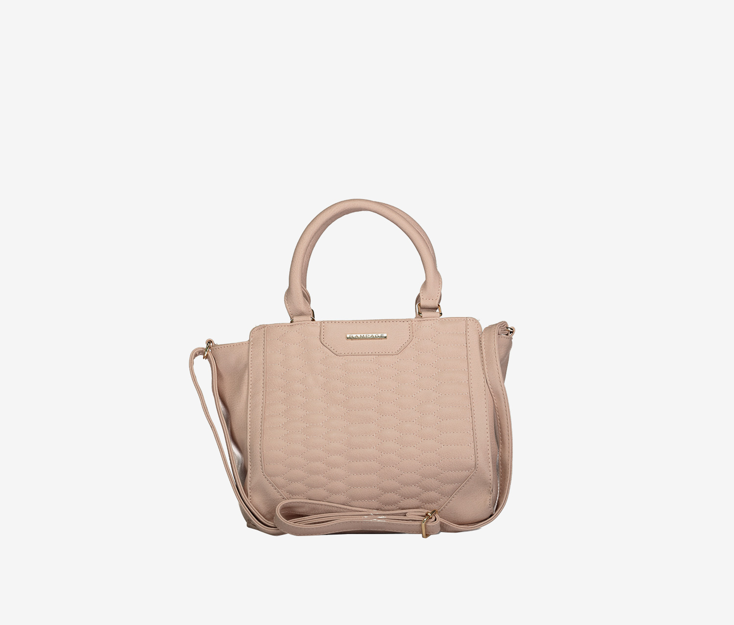 Women's Quilted Satchel Bags, Blush