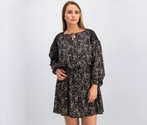 Mango Floral Print Dress, Black Combo