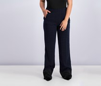 Women's Textured Pants, Navy Combo