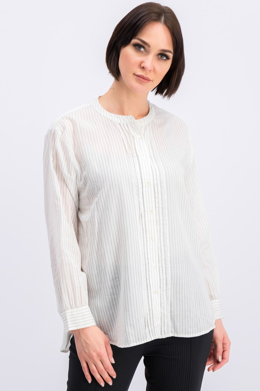 Women's Striped T-Shirt, Ivory