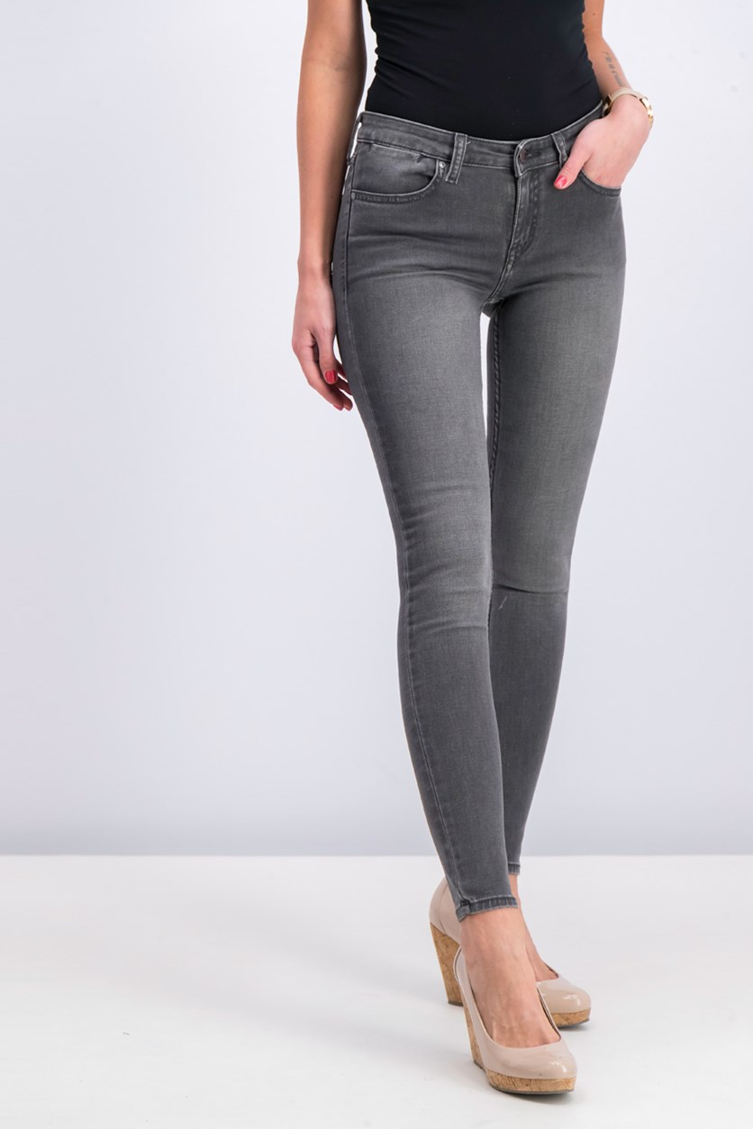 Women Skinny Elektra Jeans, Open Grey