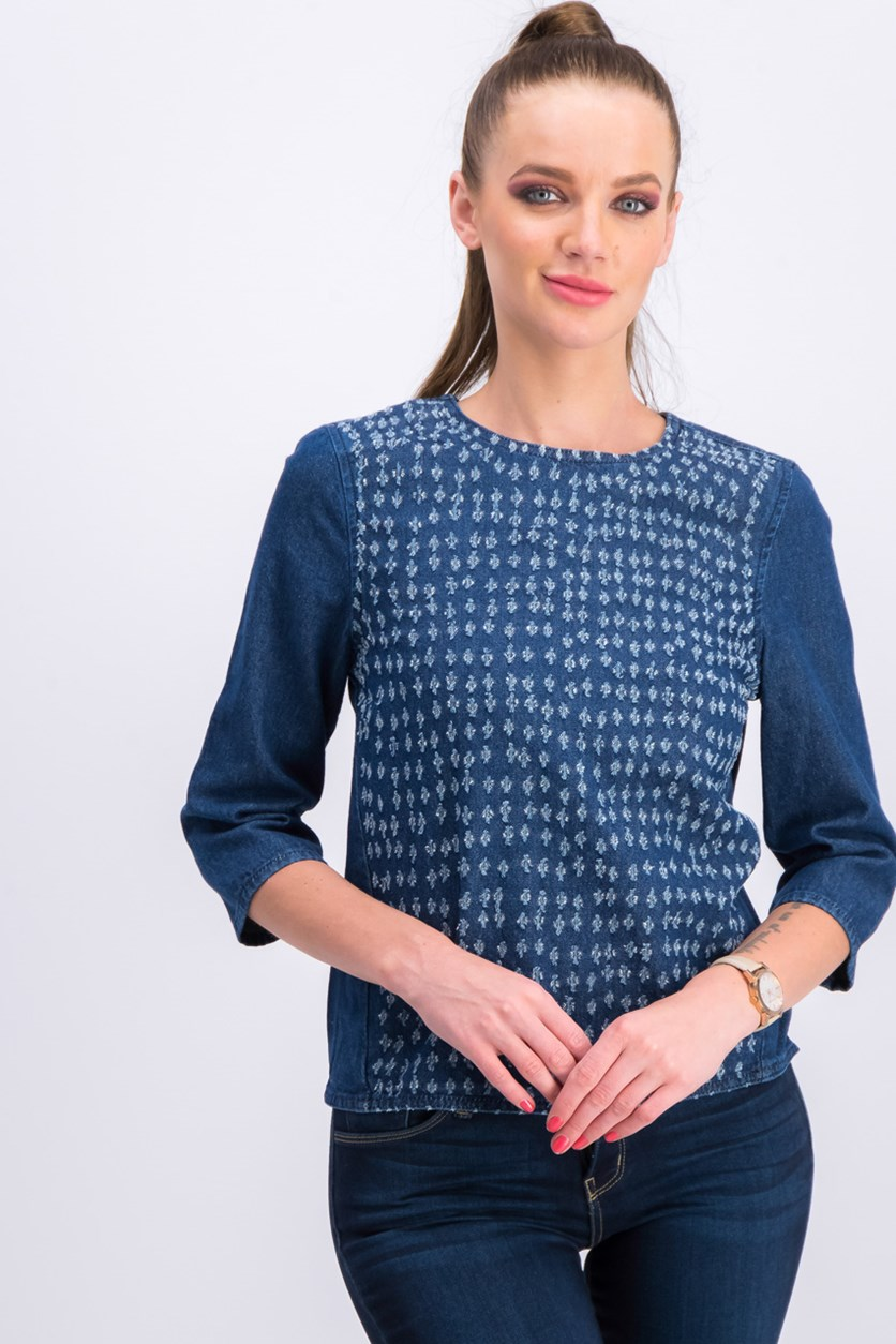 Women's Denim Blouse, Blue
