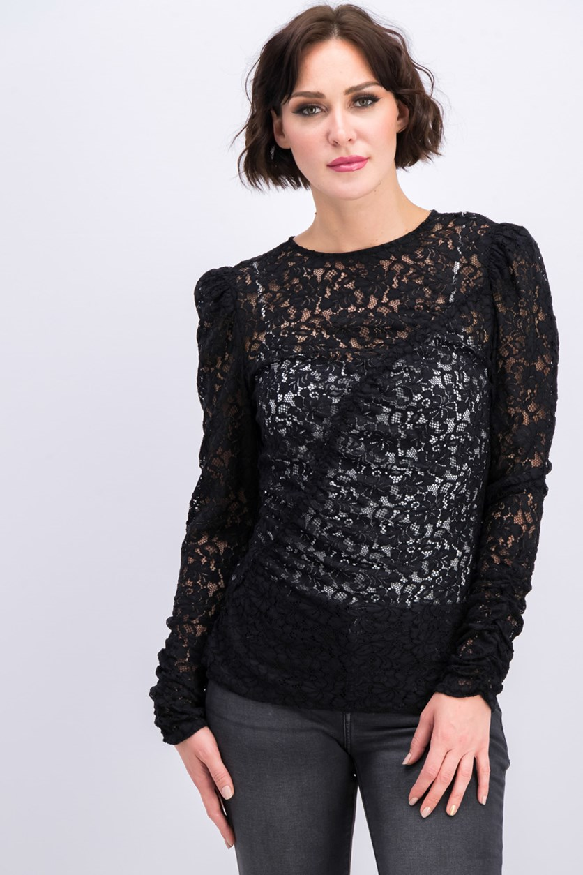 Lace Blouse, Black