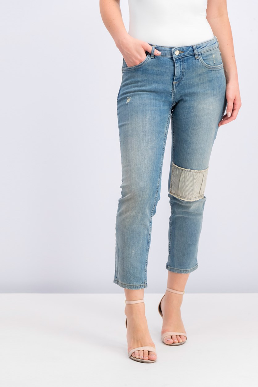 Women's Mango Alice Washed Jeans, Blue