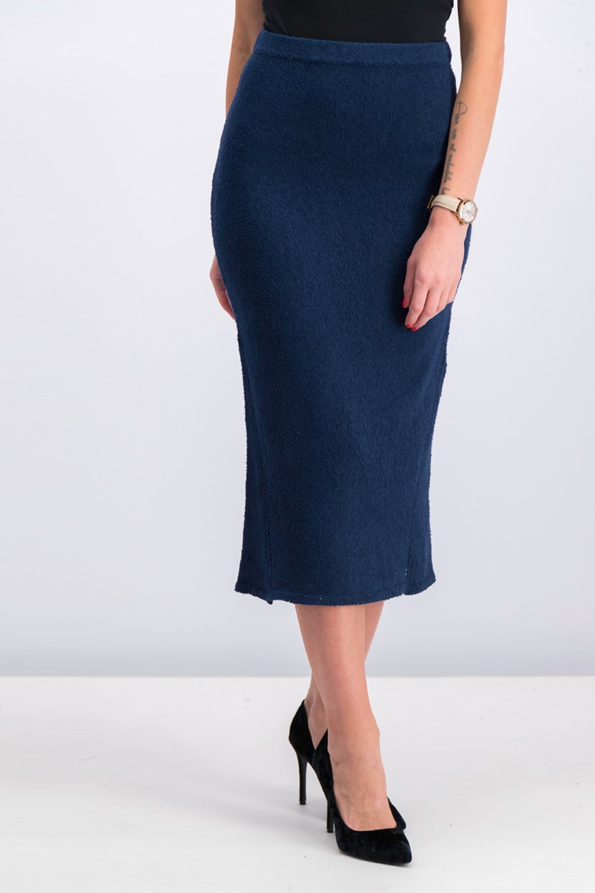Women's Textured Skirt, Blue