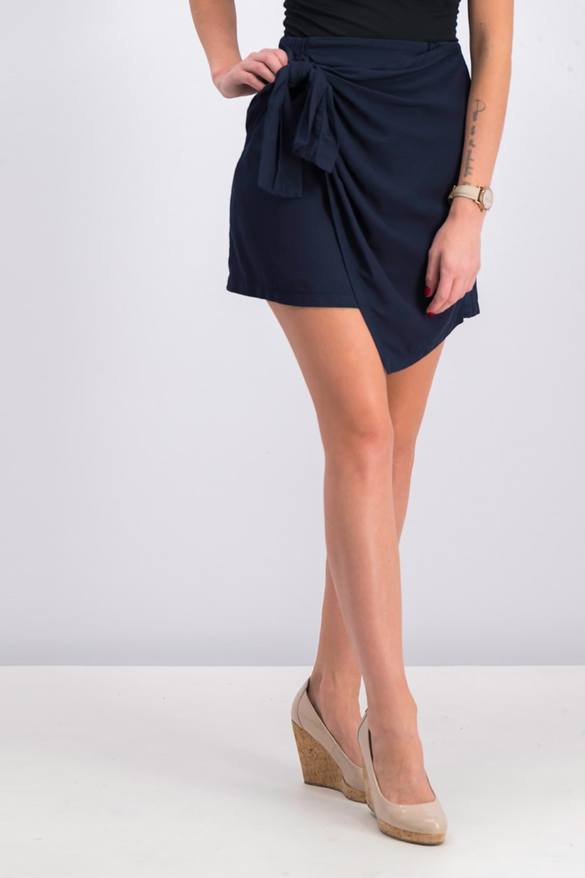 Women's Bow Skirt, Navy
