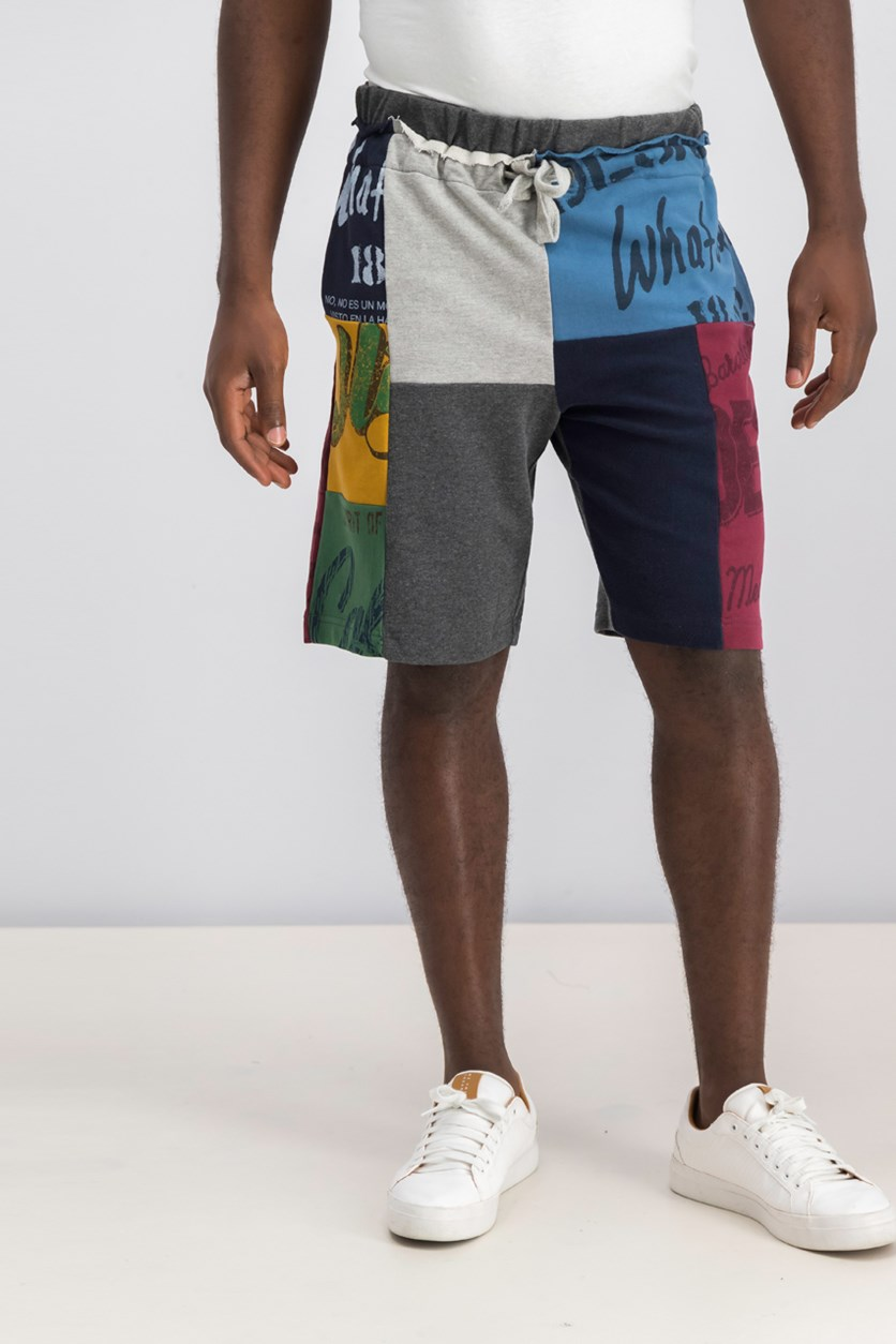 Colorblock Printed Short, Combo