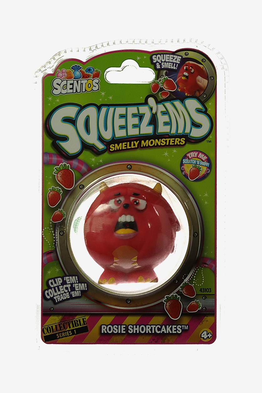 Squeez'ems Smelly Monsters Scented Keychain, Red