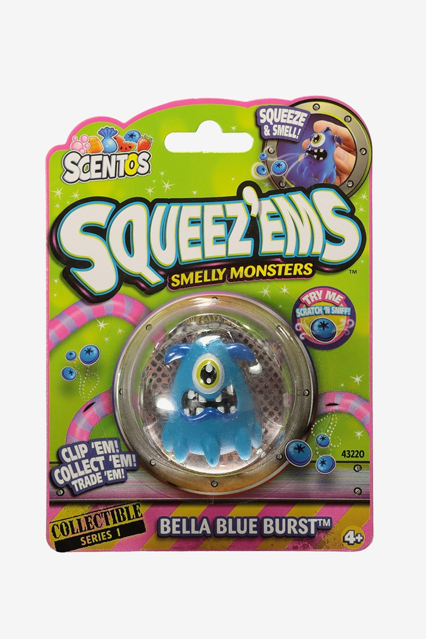 Scented Mini Keychain, Bella Blue Burst