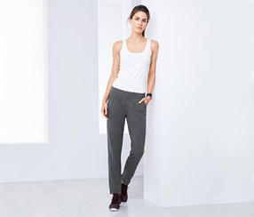 Women's Track Chino Pants, Grey
