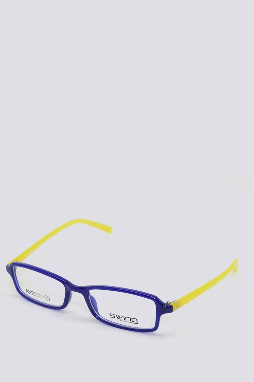 Eyewear Memory Flexible Frames, Blue/Yellow