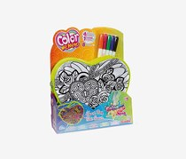 Simba Smoby Color Me Mine Marker Heart Bag Set, Green Combo