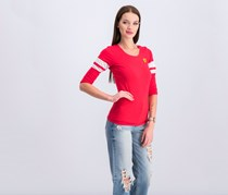 Ferrari Women's Race 3/4 Sleeve Tee, Red