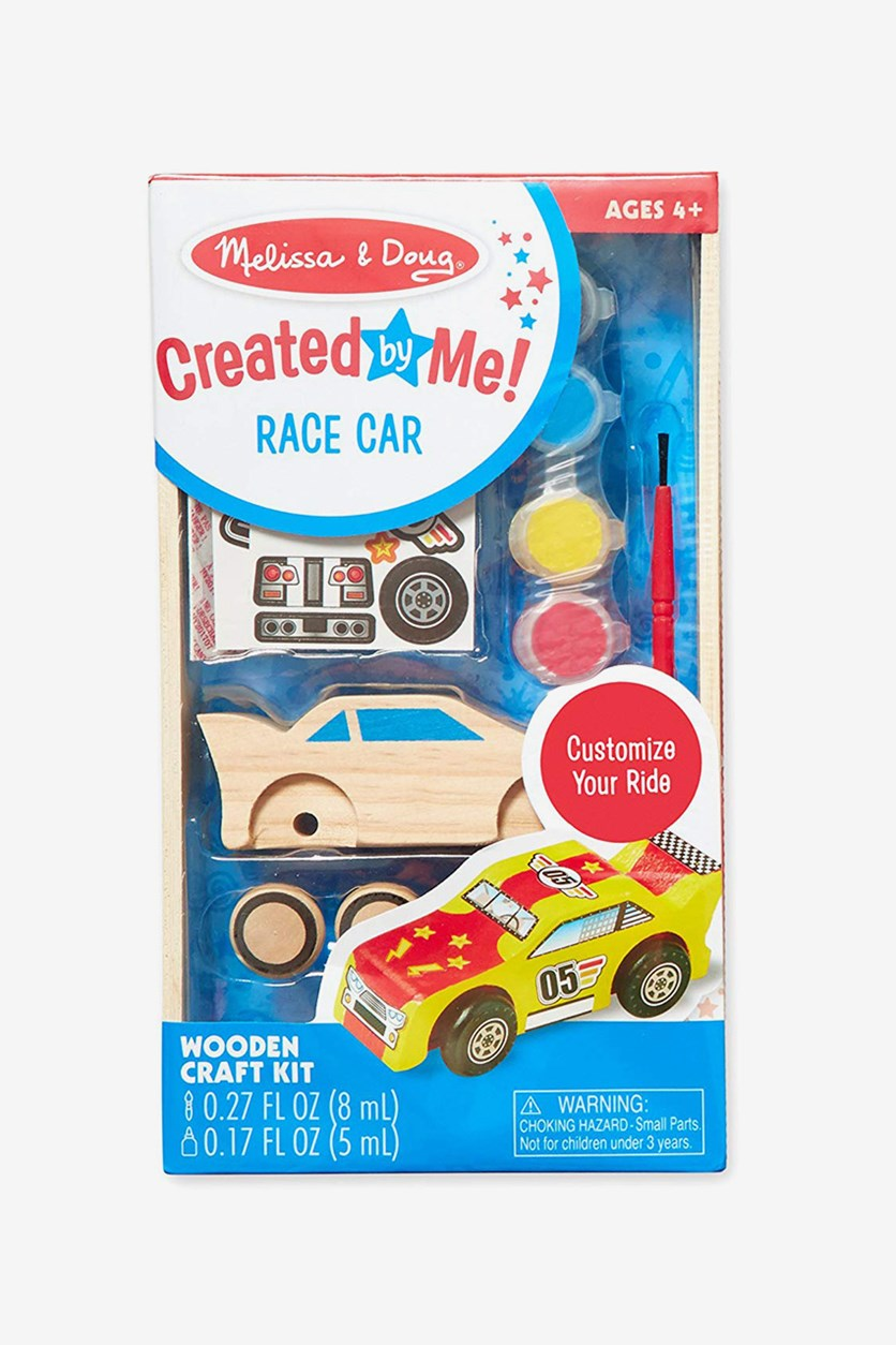 Melissa & Doug Decorate-Your-Own Wooden Race Car Craft Kit, Combo