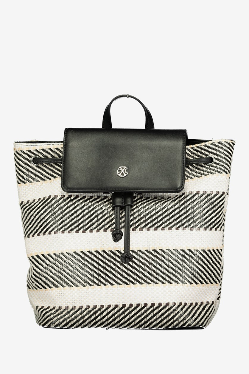 Women's Angelique Backpack, Stripe Black Combo