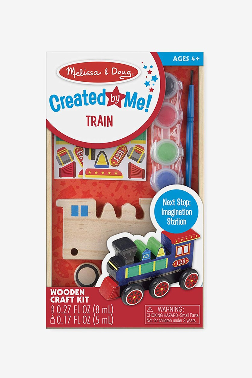Melissa & Doug Decorate-Your-Own Wooden Train Craft Kit, Combo