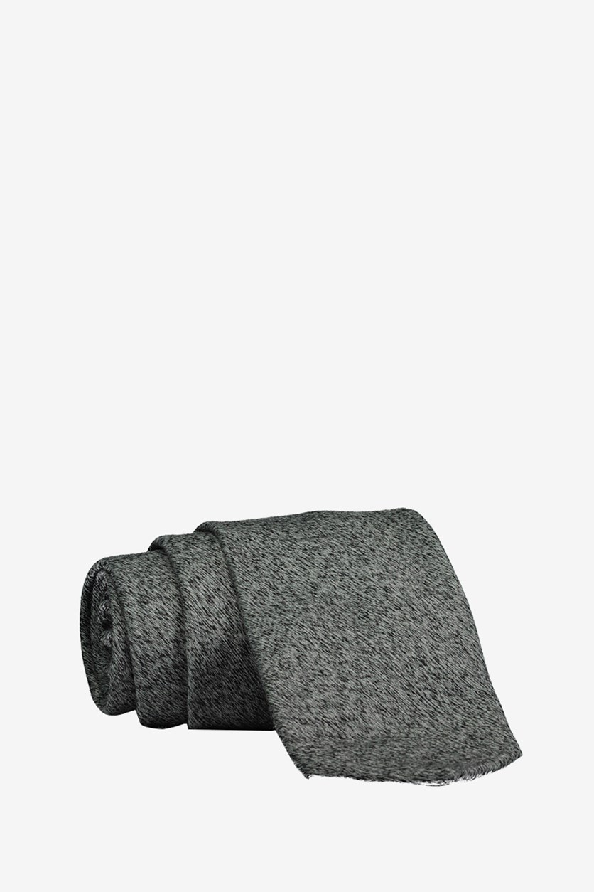 Mens Ohley Self-tied Necktie, Gray/Black