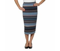Matty M Women's Midi Pencil Skirt , Blue/Brown
