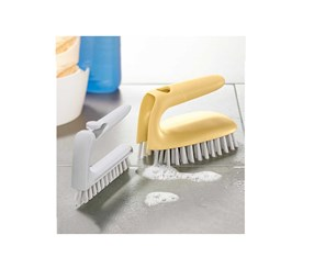 2 in 1 Tile Scrubber, Yellow