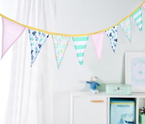 Pennant Garland, Yellow/Pink/Blue