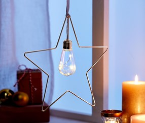 Led Metal Hanger Star