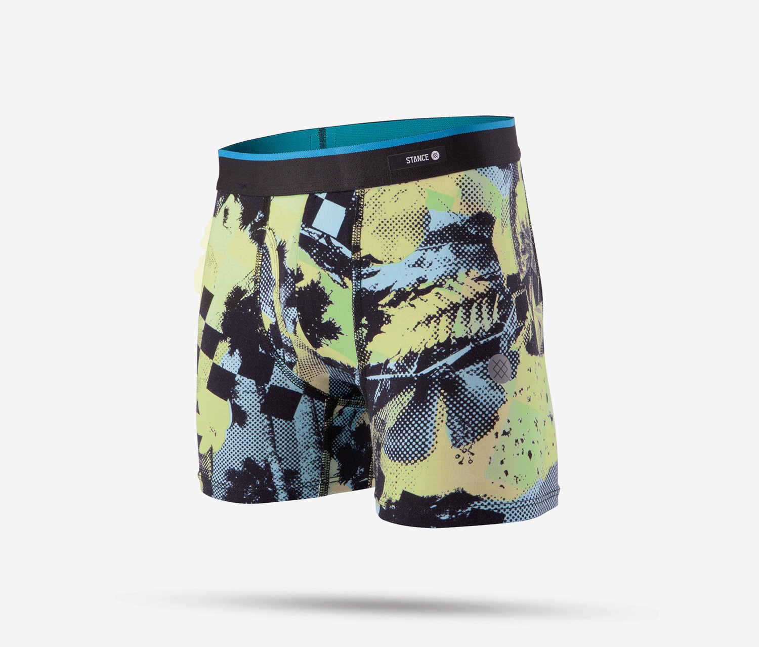 Venice Boxer Briefs, Yellow/Blue Combo