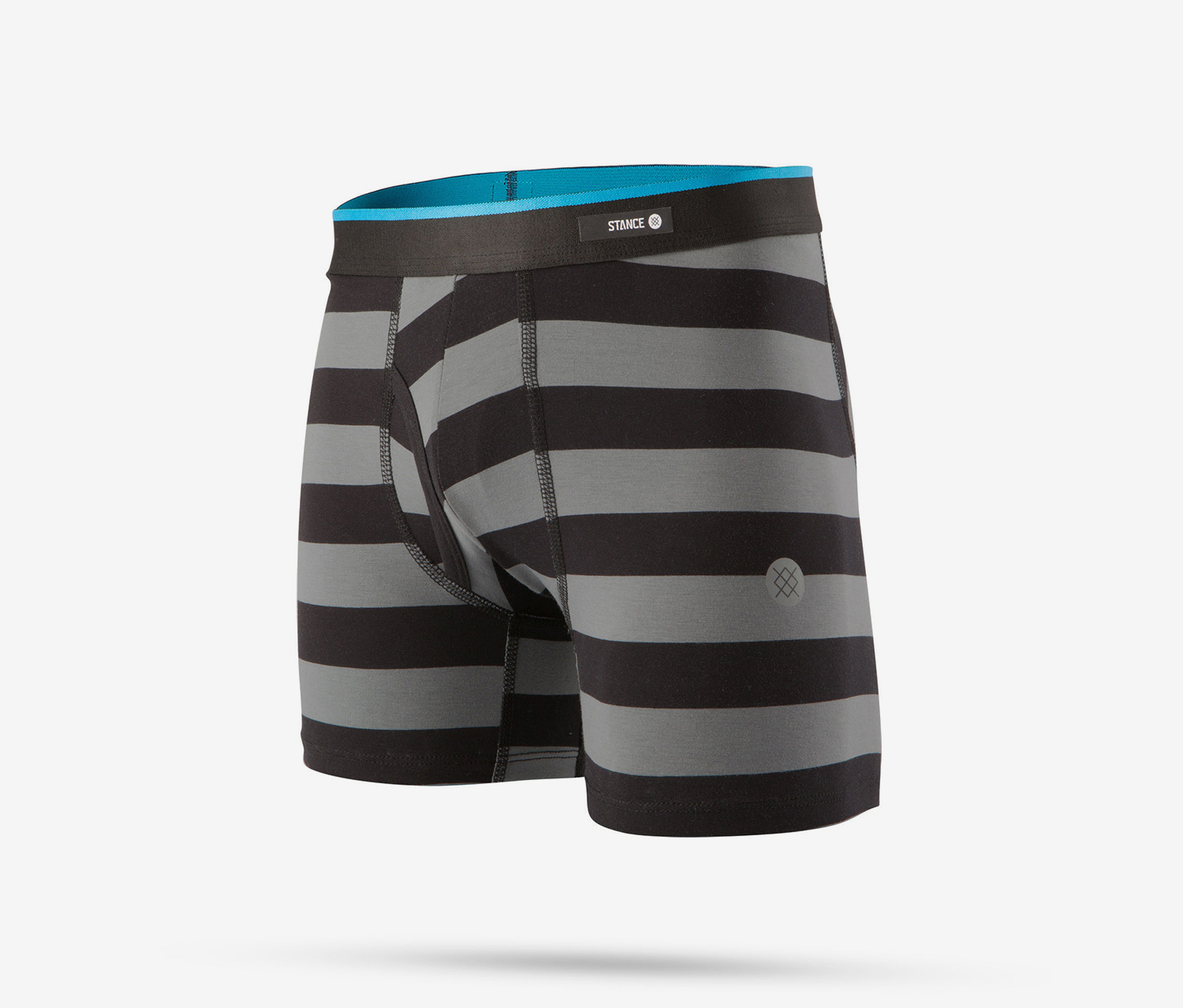 Boy's Mariner Boxer Brief, Black/Grey