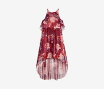 Bonnie Jean Big Girls Floral-Print Halter Maxi Dress, Burgundy Combo