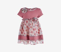 Bonnie Baby Baby Girls Rose Striped Floral Dress, Ros
