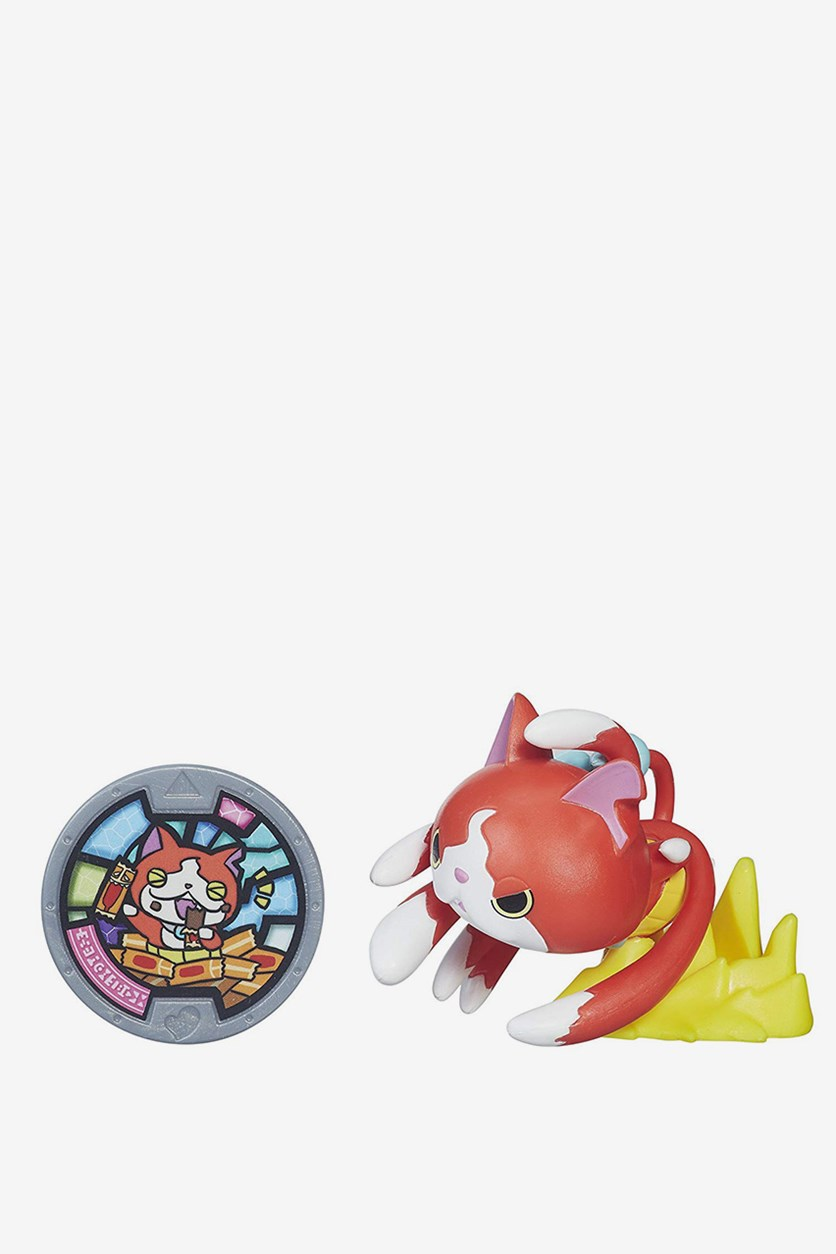 Yokai Watch Medal Moments Figure with Medal - Jibanyan, Red