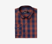 Bar III Men's Ombre Button up Dress Shirt, Rust/Navy
