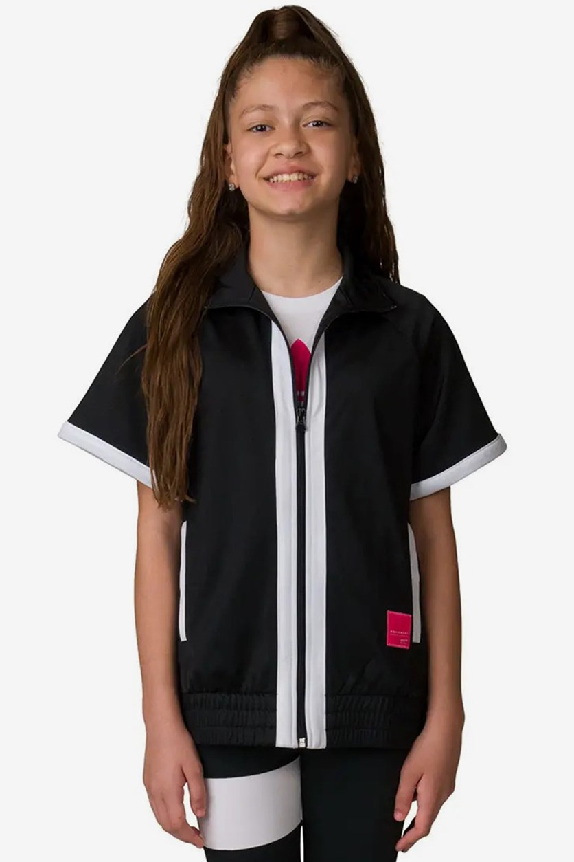 Kids Girls Junior EQT Vest, Black/White