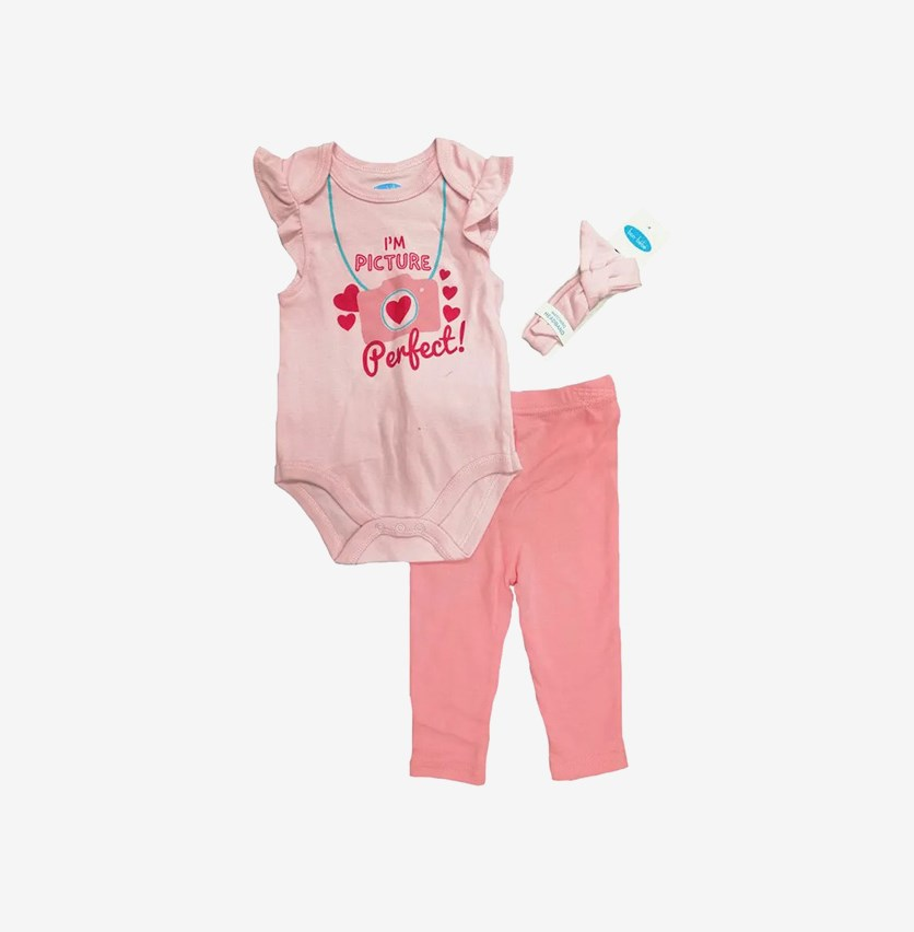 Bon Bebe Toddlers Im Picture Perfect Set, Pink